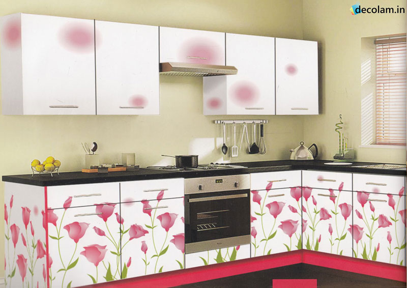 Laminate High Gloss White Petg Kitchen Cabinet Color Combination Gorgeous Inspiration Kitchen