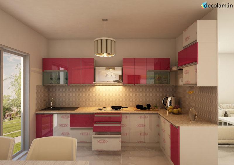 Modular Kitchens Modern Kitchens Acrylic Laminates
