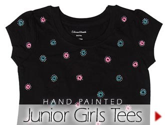 Hand Painted Girl's Tees