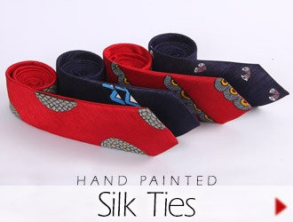 Hand Painted Ties for Men