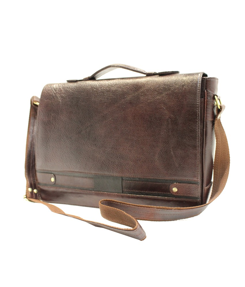 clithscom1 American-elm Genuine Leather Messenger Laptop Bag-14x11x3.5 Inch