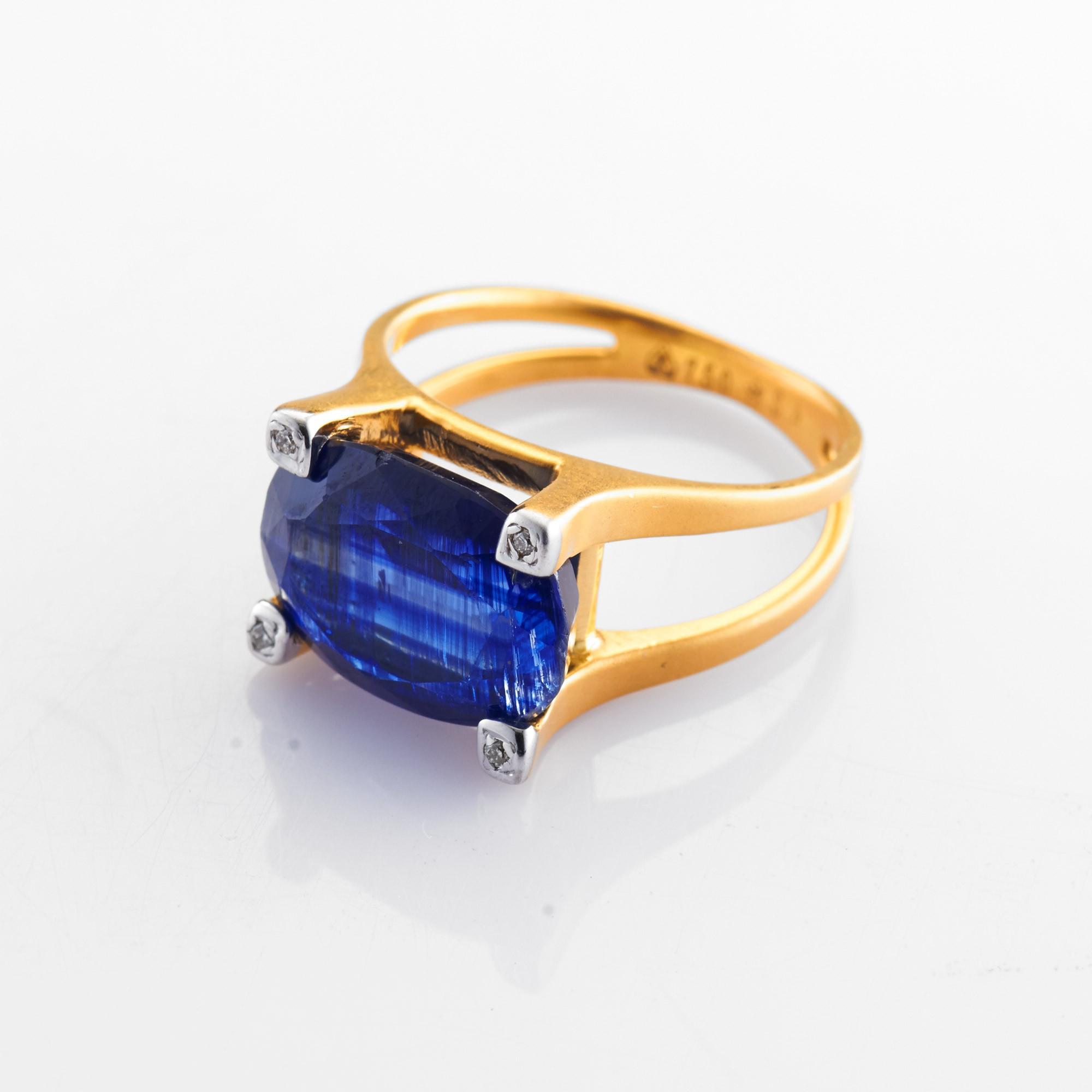 ratanali Fountain Crest Kyanite & Diamond Ring