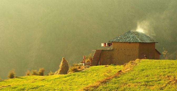 Himachali Village - Dhauladhar