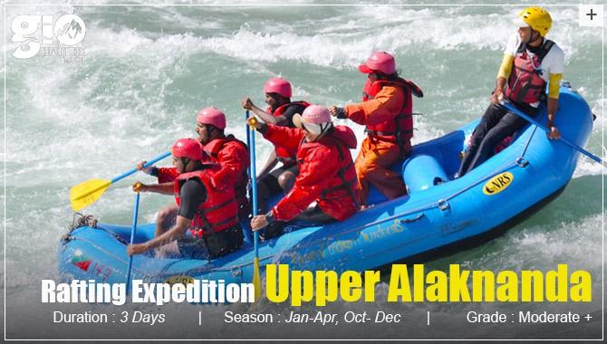 upper alaknanda Rafting - Uttarakhand