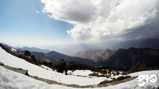 Snowy hillsides of Chopta