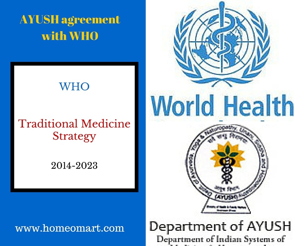 image showing AYUSH WHO agreement