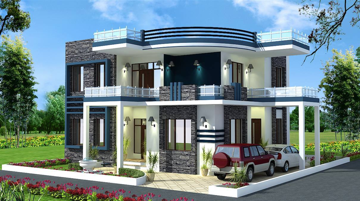 Contemporary and mordern bungalow elevations design ideas for Modern bungalow elevation