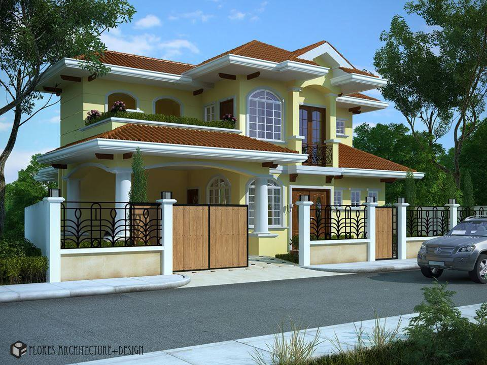 Sloped Roof Bunglow Elevation Designs 22
