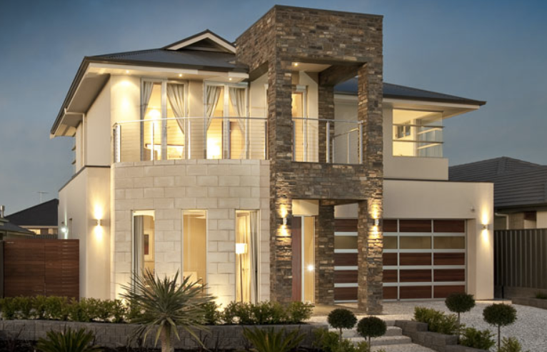 Front Elevation Sloped Roof : Sloped roof bungalow font elevations collection
