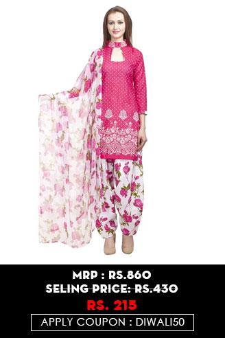 Polyester Pink Dress MAterial