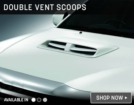 Double Vent Bonnet Scoop Banner
