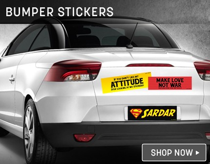 Bumper Sticker Banners