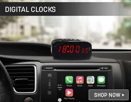 Custom Fit Dashboard Clock Banner