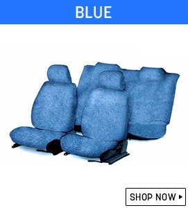 Blue Towel Seat Covers