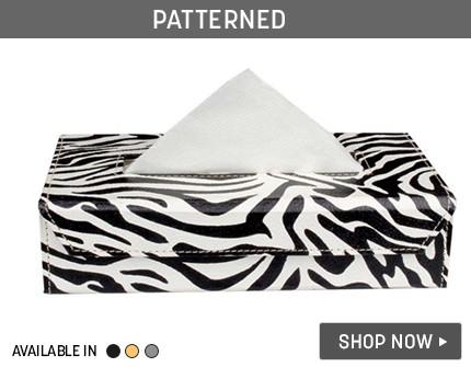 Patterned Tissue Holder Banner