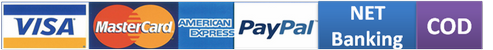 Pay using a wide range of options including, Cash on Delivery. Net Banking, Credit, Debit Cards, Paypal and Wallets