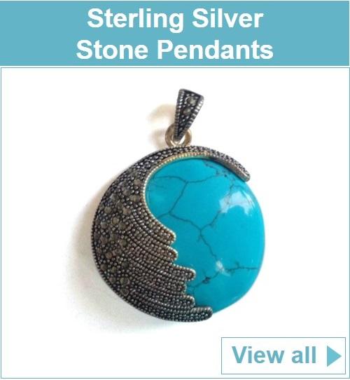 Sterling Silver Stone Pendants