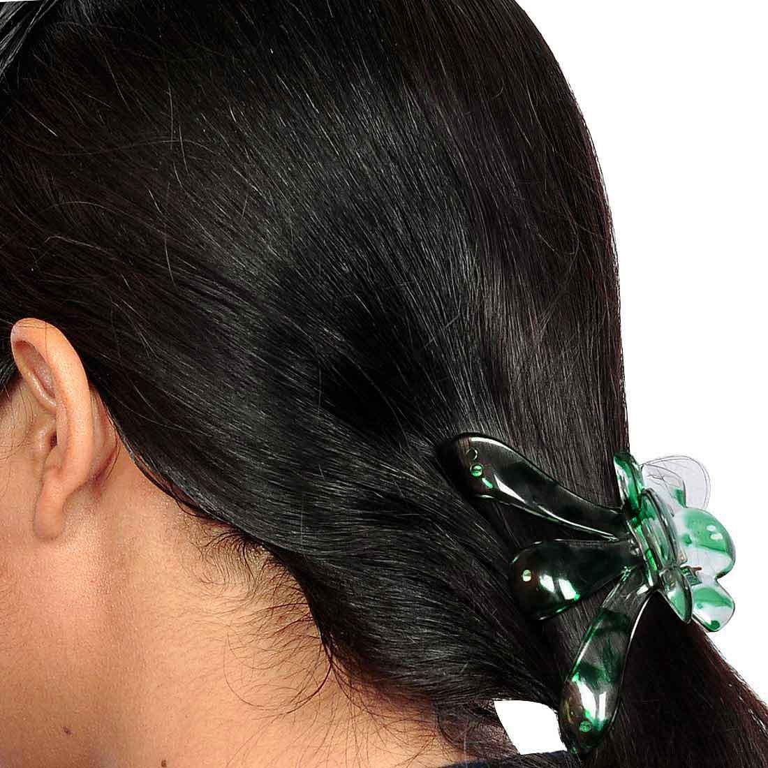 Posh Designer Hair Clutchers in Green Yellow for College by Maayra