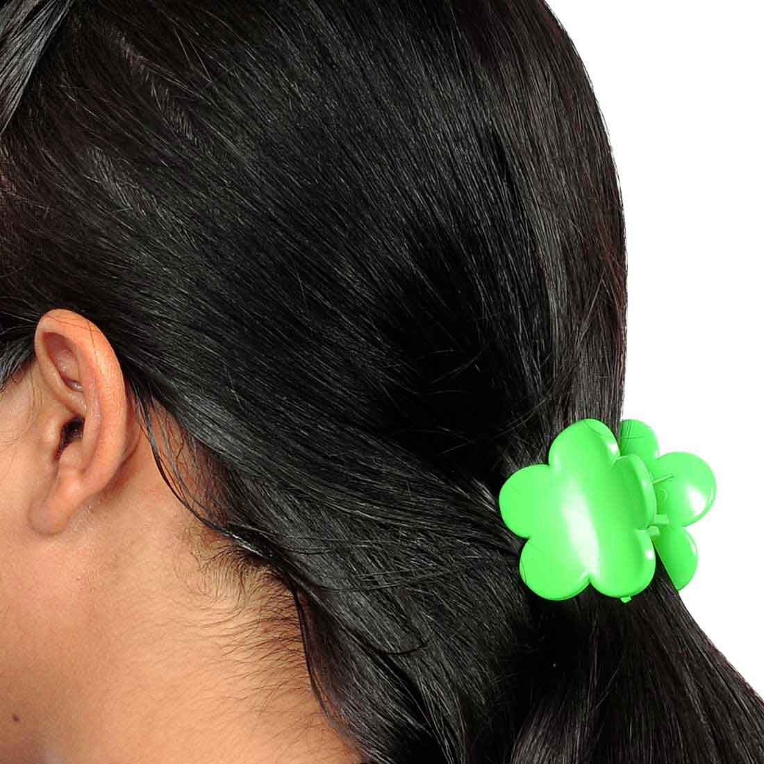 Bright Designer Hair Clutcher in Green for Party by Maayra