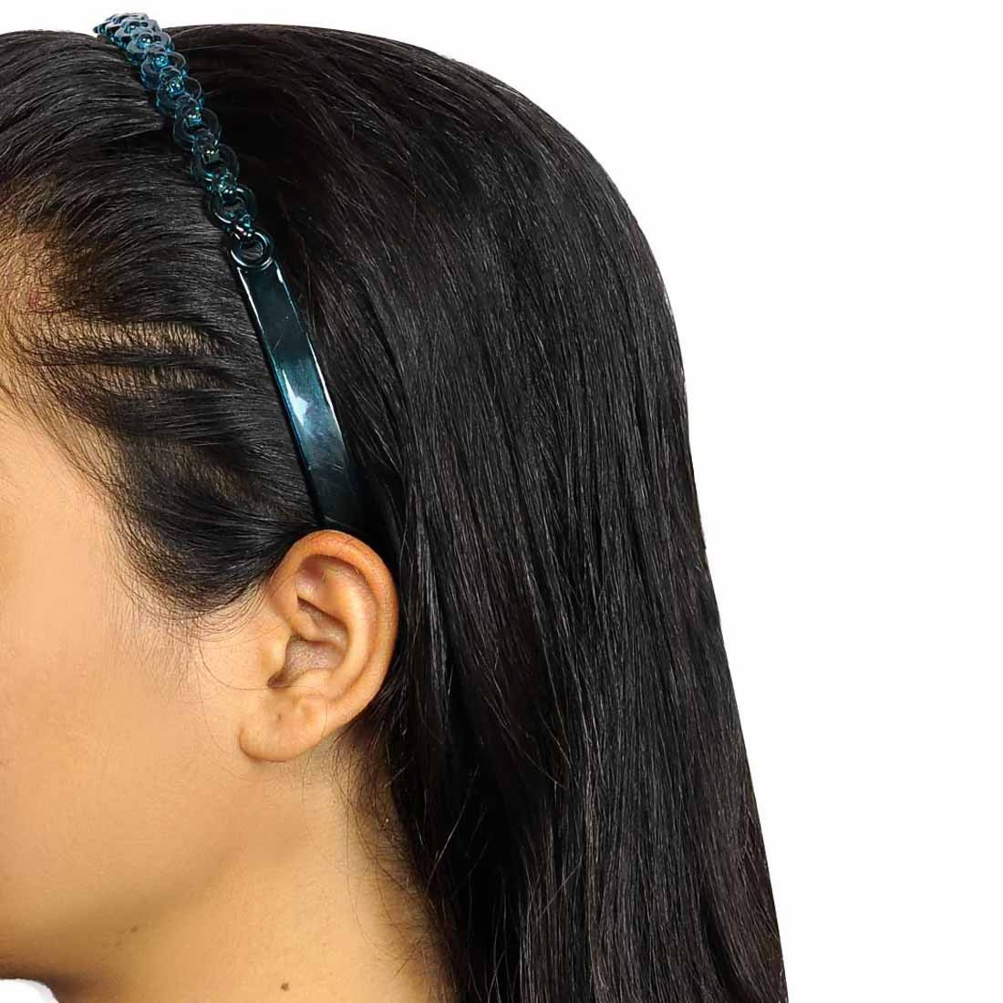 Sexy Designer Hair Bands in Brown Blue for Party by Maayra