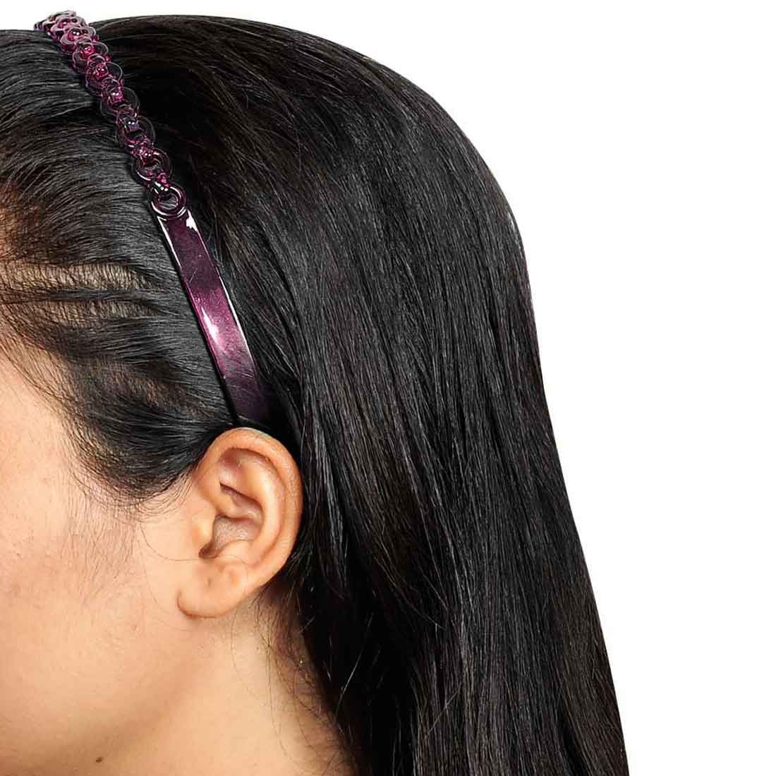 Fantastic Designer Hair Bands in Green Pink for College by Maayra