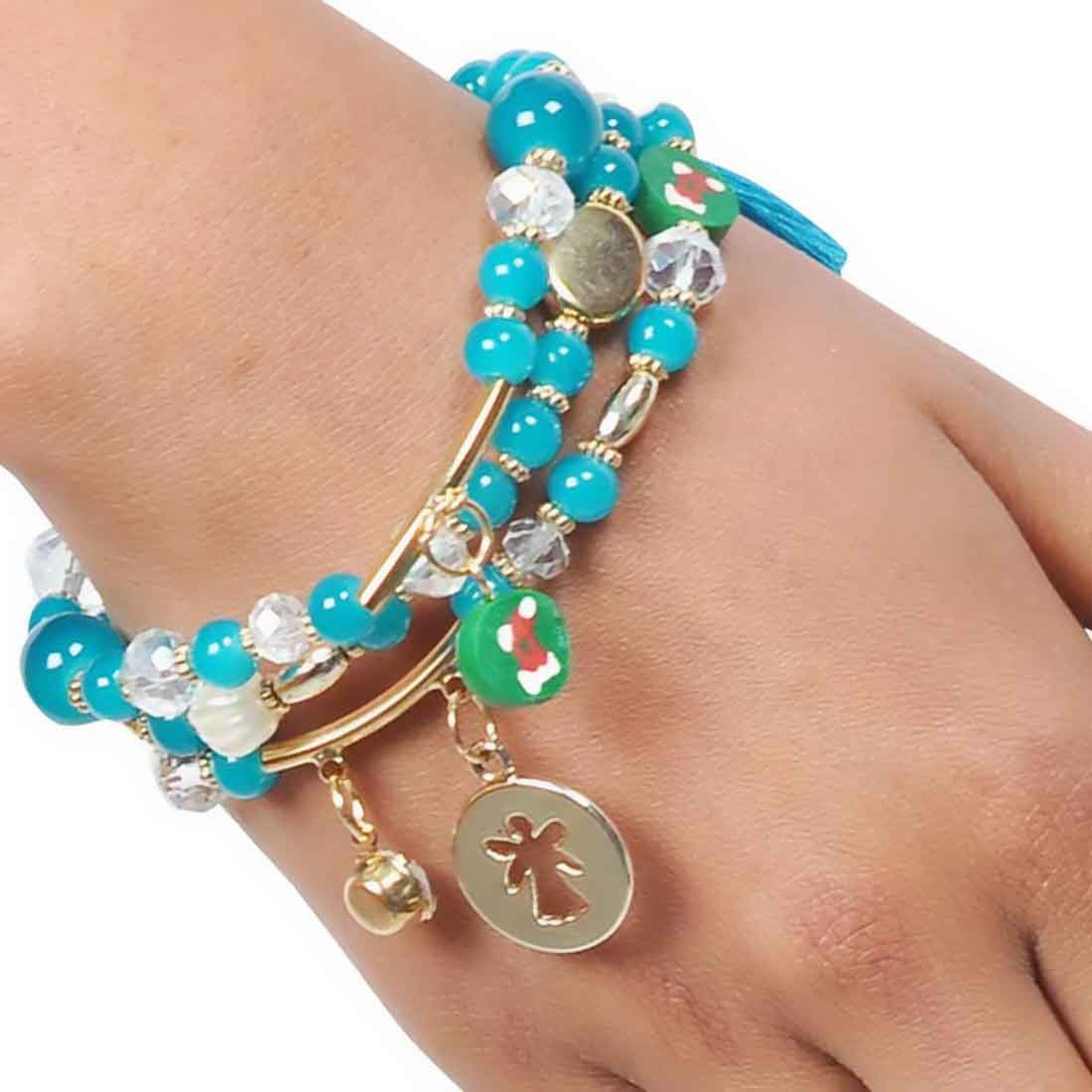 Stylish Multicolor Designer Adjustable Reunion Bracelet Alloy Maayra MY6776