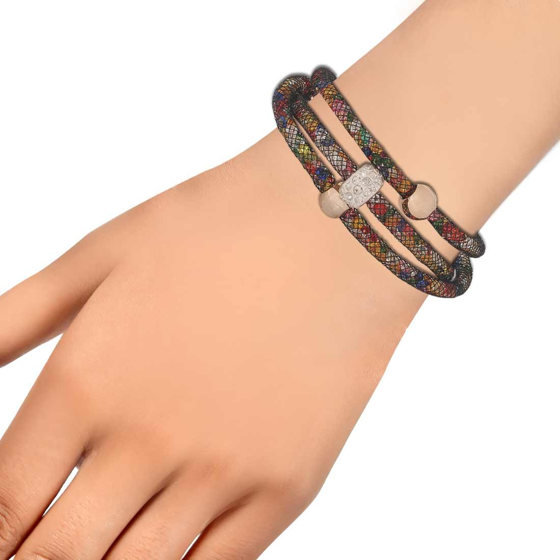 Pretty Multicolor Jaali Work Adjustable Dailywear Bracelet Alloy Maayra MY6787