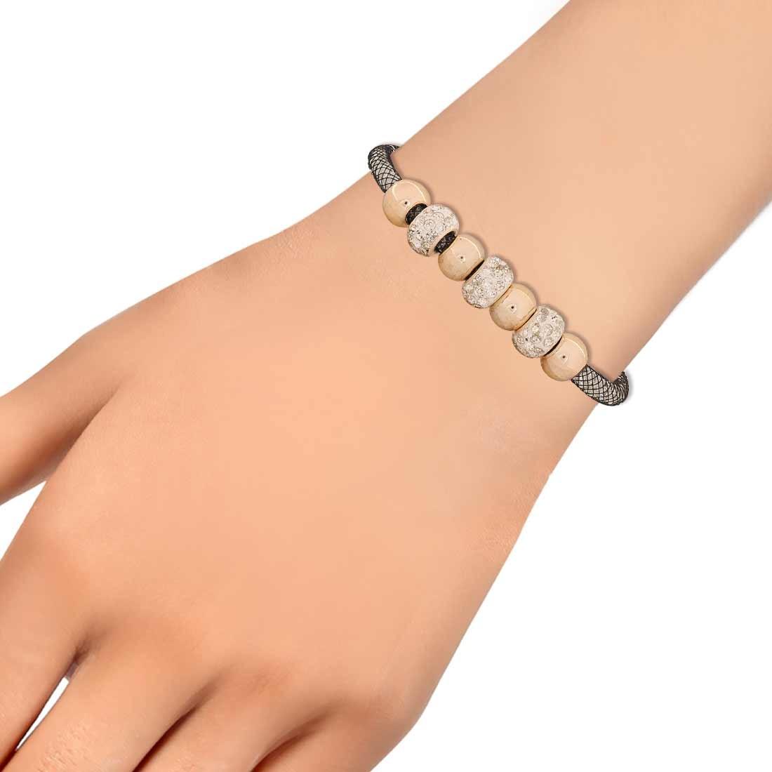 Awesome Black Bronze Designer Adjustable College Bracelet Alloy Maayra MY6807