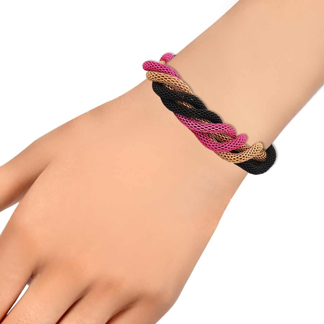 Cute Multicolour Designer Adjustable Party Size Bracelet Alloy Maayra MY6808