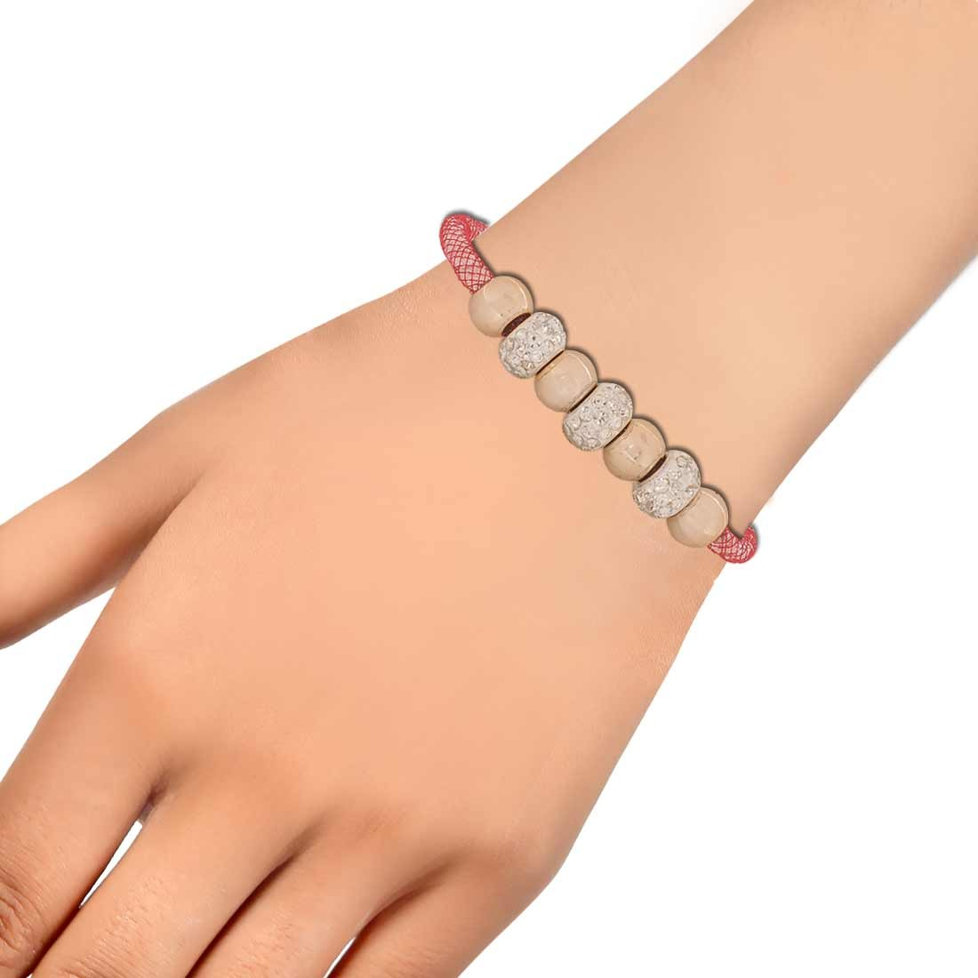 Sober Pink Bronze Designer Adjustable Get-together Bracelet Alloy Maayra MY6810