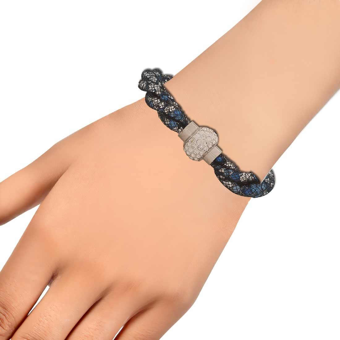Lovable Blue Latest Adjustable Casualwear Size Bracelet Alloy Maayra MY6812