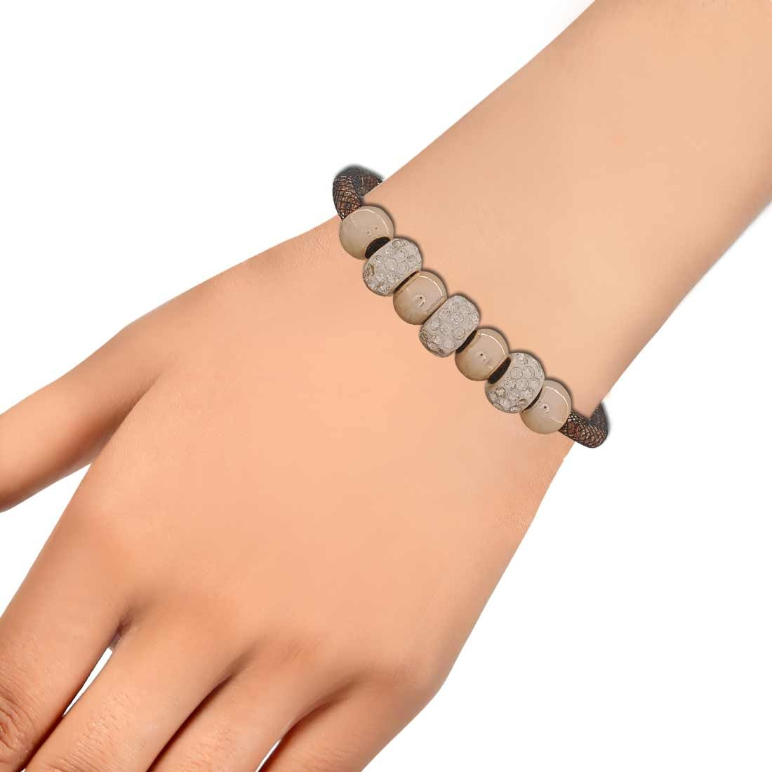 Plush Bronze Black Latest Adjustable Get-together Bracelet Alloy Maayra MY6816