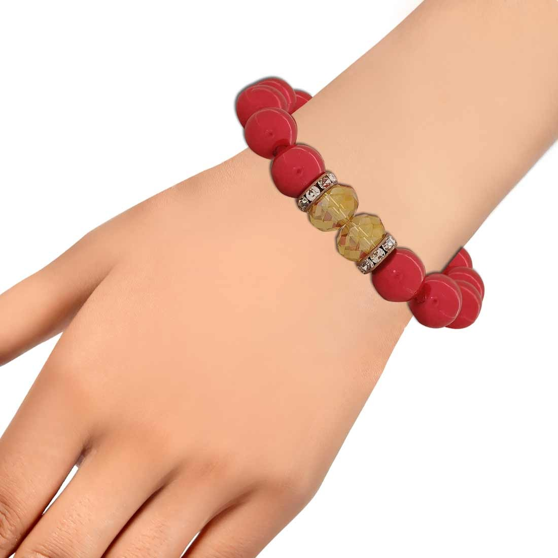 Unique Red Yellow Latest Adjustable Party Size Bracelet Alloy Maayra MY6820
