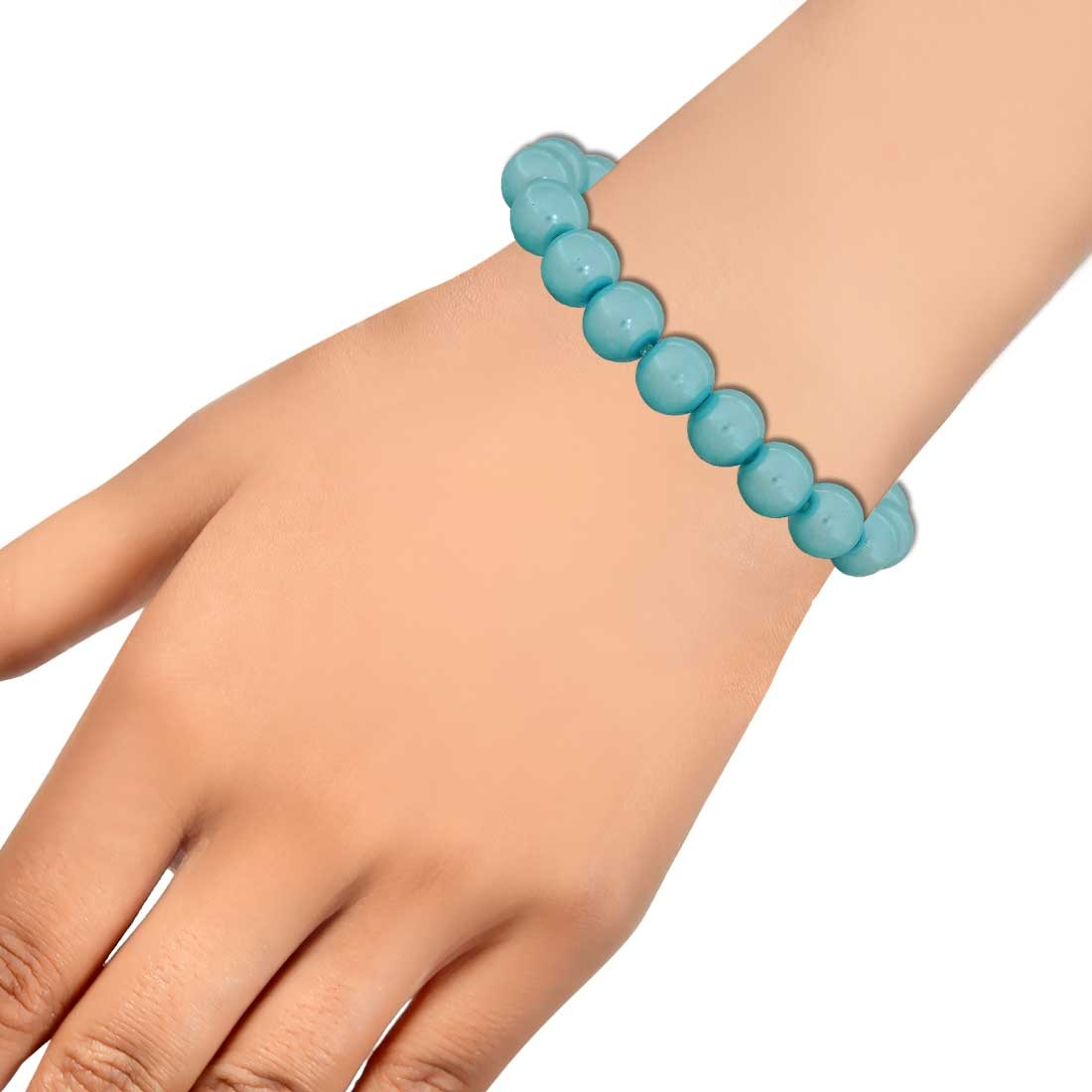 Sizzling Blue Contemporary Adjustable Party Size Bracelet Alloy Maayra MY6826