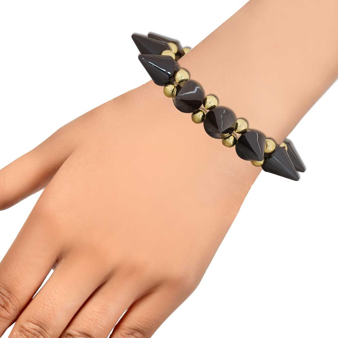 Artistic Brown Gold Latest Adjustable Cocktail Bracelet Alloy Maayra MY6839