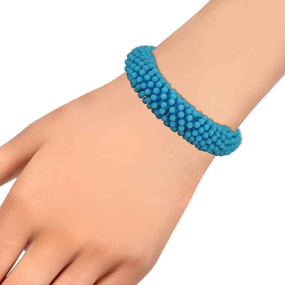 Lovely Blue Latest Adjustable Get-together Size Bracelet Alloy Maayra MY6840