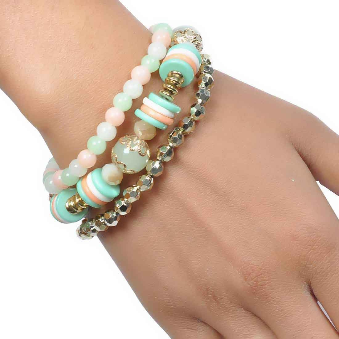 Exquisite Multicolor Designer Adjustable College Bracelet Alloy Maayra MY6843