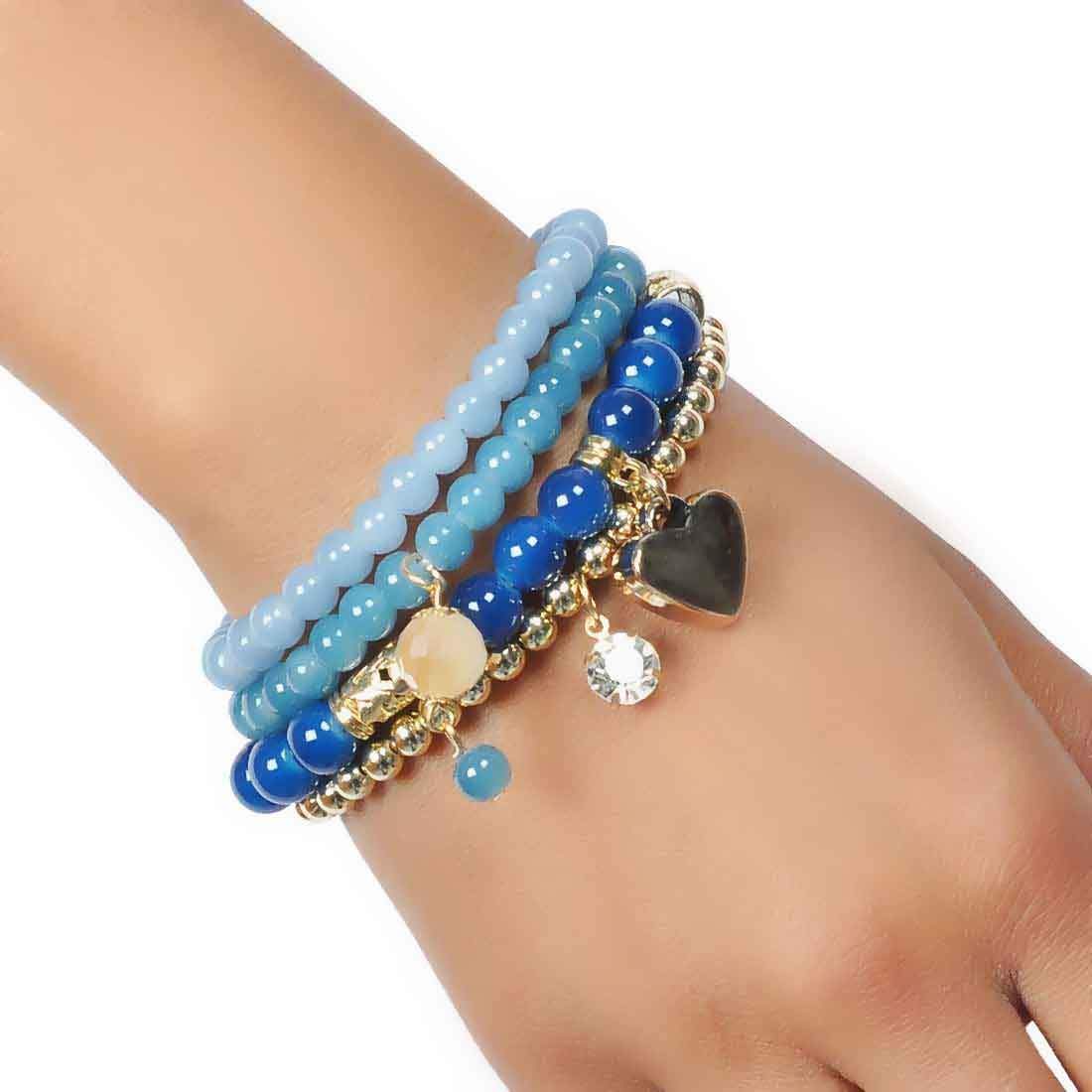 Sexy Multicolor Designer Adjustable Get-together Bracelet Alloy Maayra MY6852