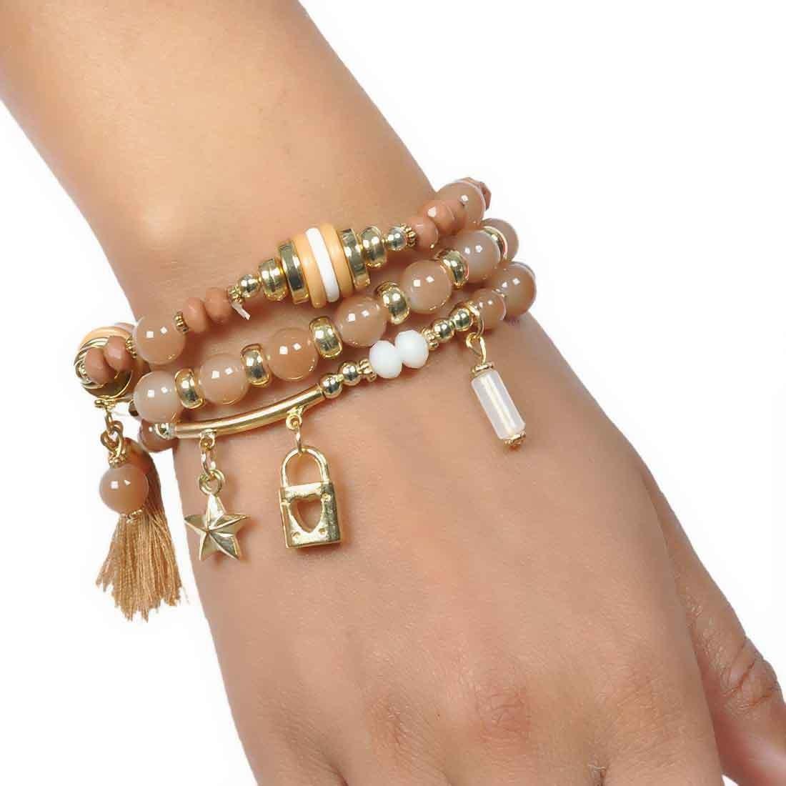 Special Multicolor Designer Adjustable Get-together Bracelet Alloy Maayra MY6858