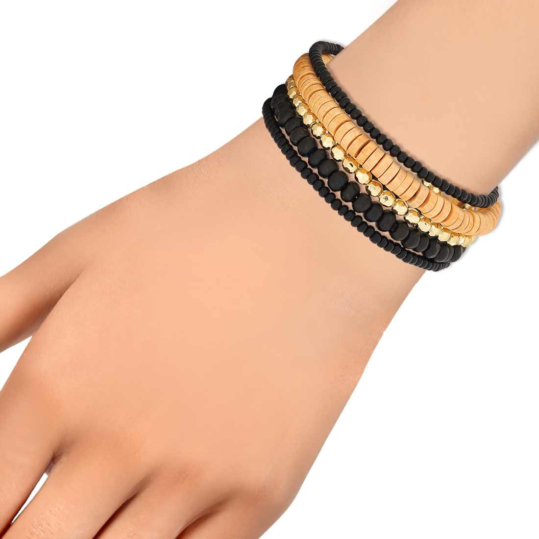 Darling Yellow Black Designer Adjustable Dailywear Bracelet Alloy Maayra MY6866