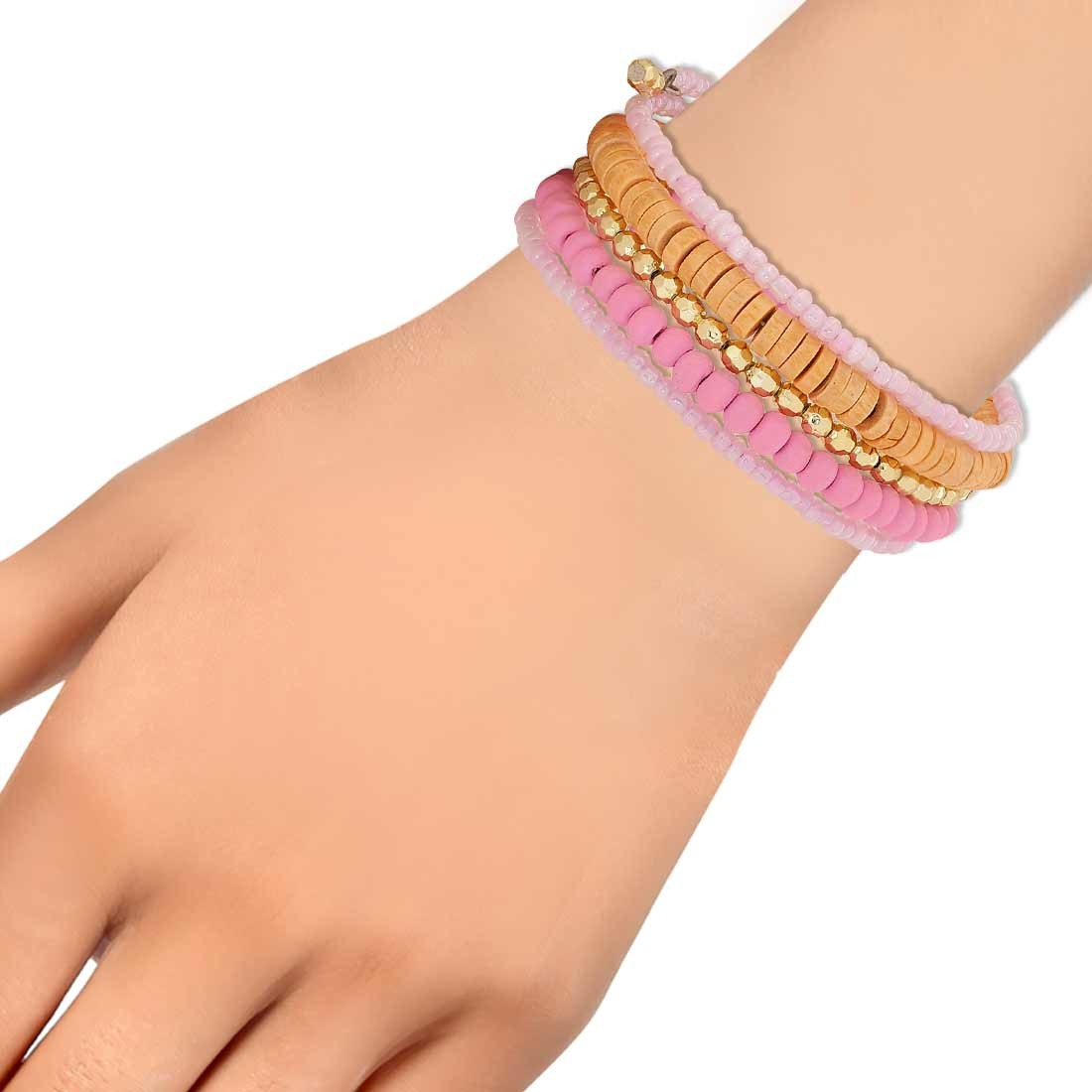 Gorgeous Multicolor Designer Adjustable College Bracelet Alloy Maayra MY6867