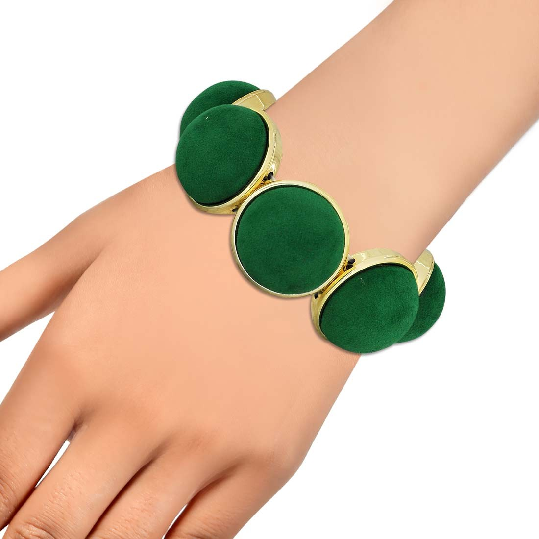 Class Green Gold Contemporary Adjustable Dailywear Bracelet Alloy Maayra MY6872