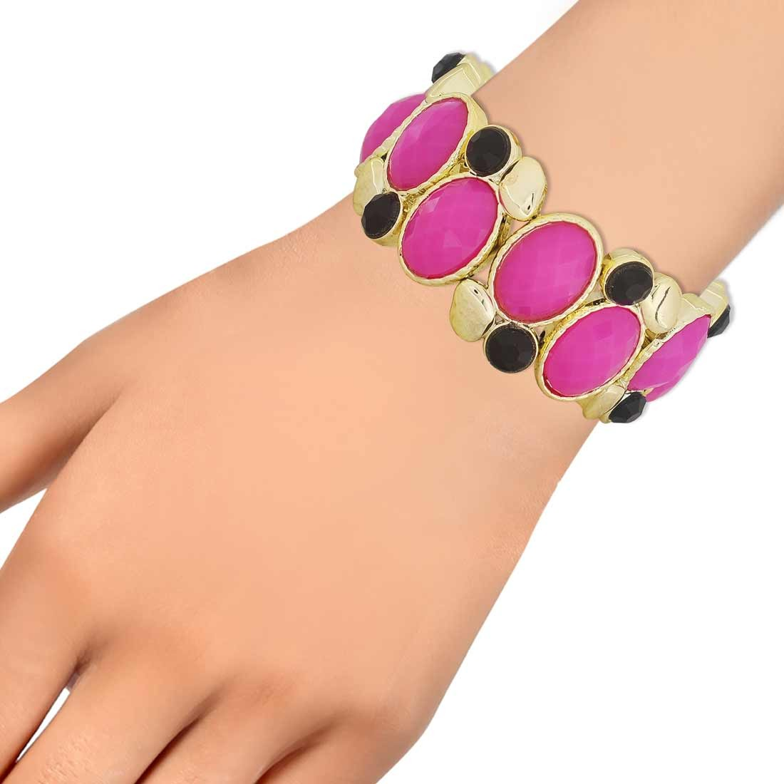 Elegant Purple Black Designer Adjustable Dailywear Bracelet Alloy Maayra MY6884