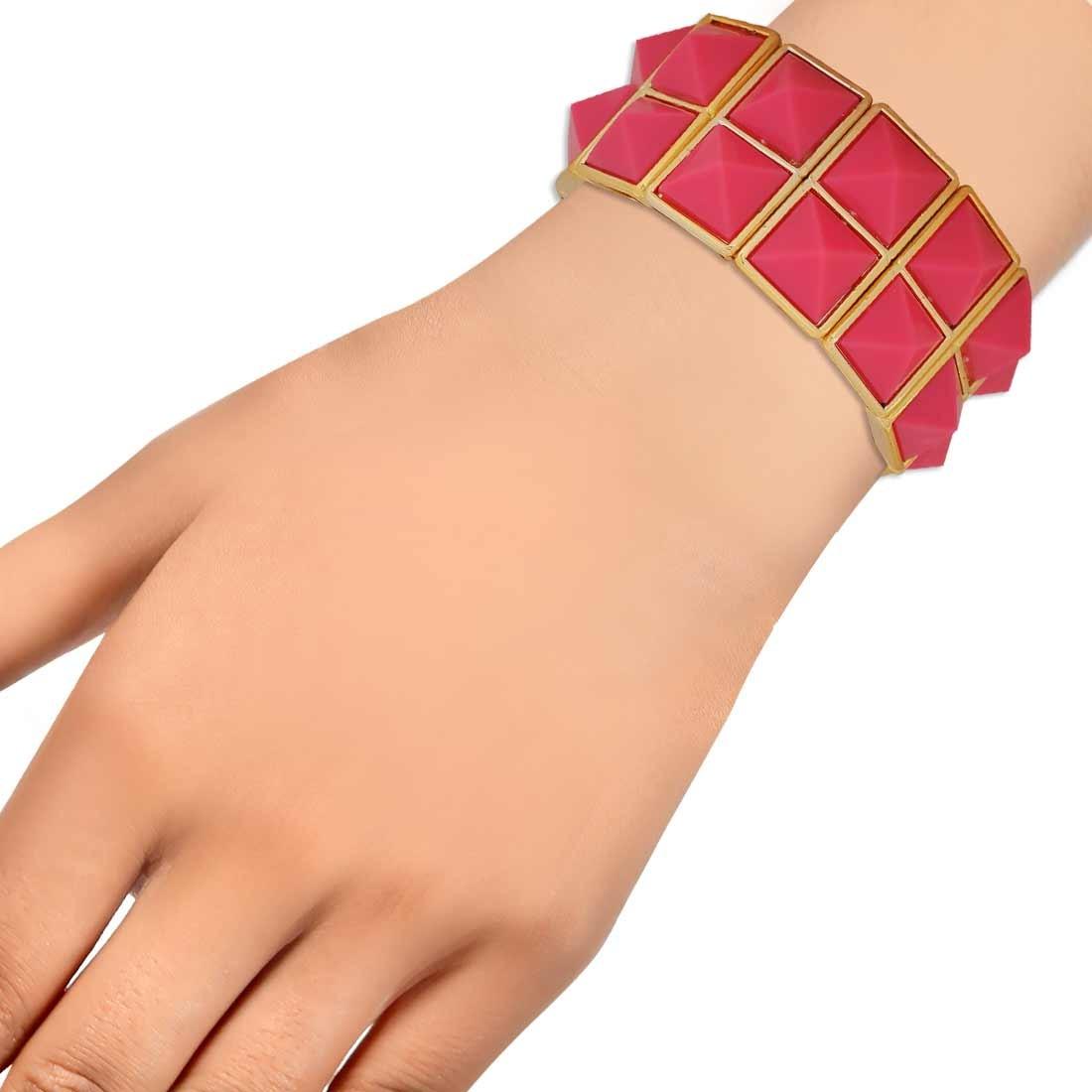 Cool Pink Gold Designer Adjustable Get-together Bracelet Alloy Maayra MY6900
