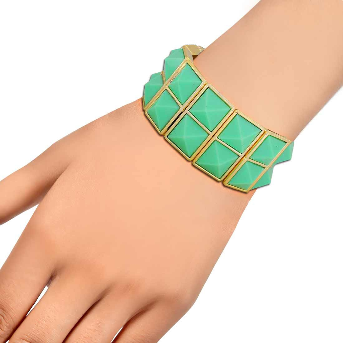 Suave Green Gold Contemporary Adjustable Dailywear Bracelet Alloy Maayra MY6902