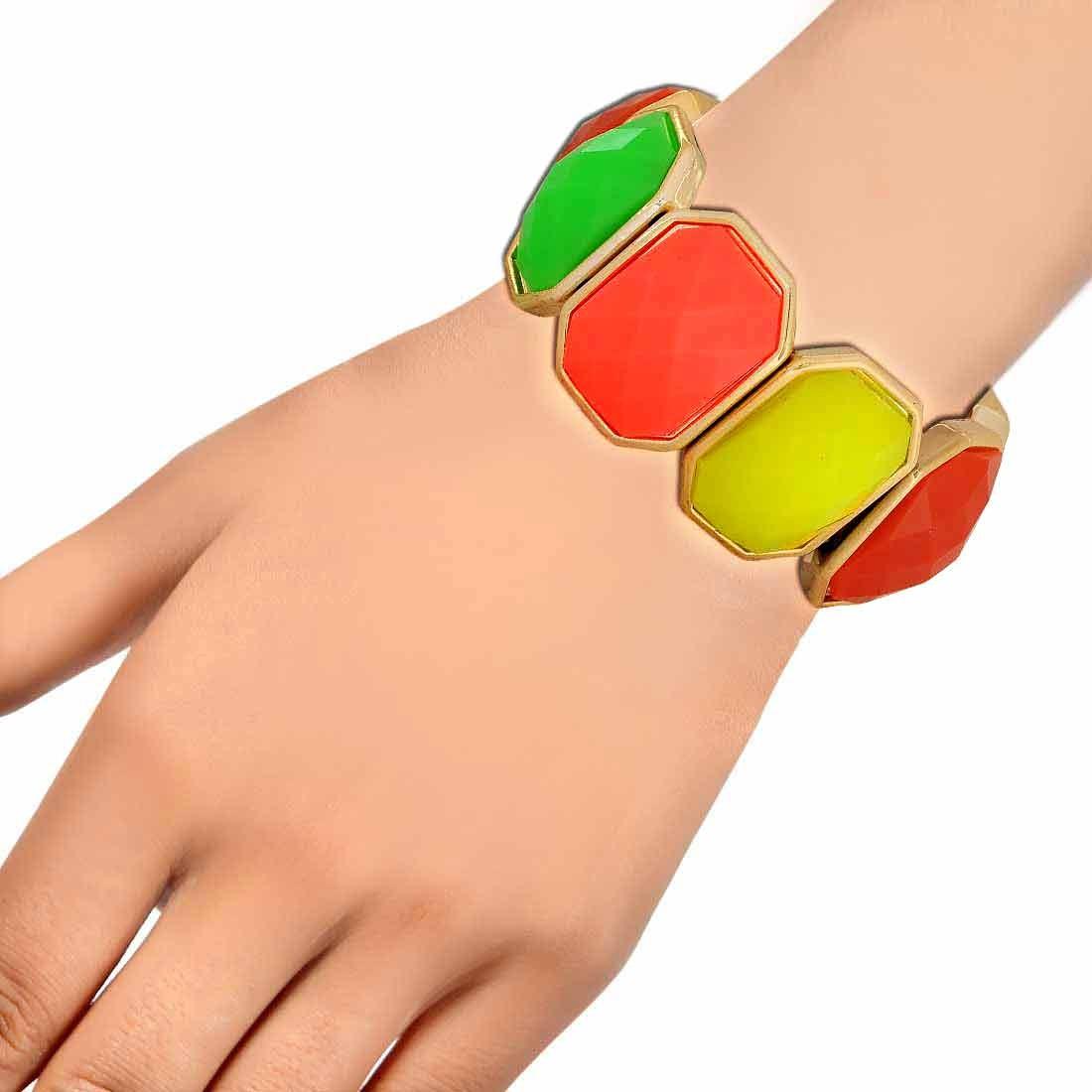 Chic Multicolor Contemporary Adjustable Casualwear Bracelet Alloy Maayra MY6908