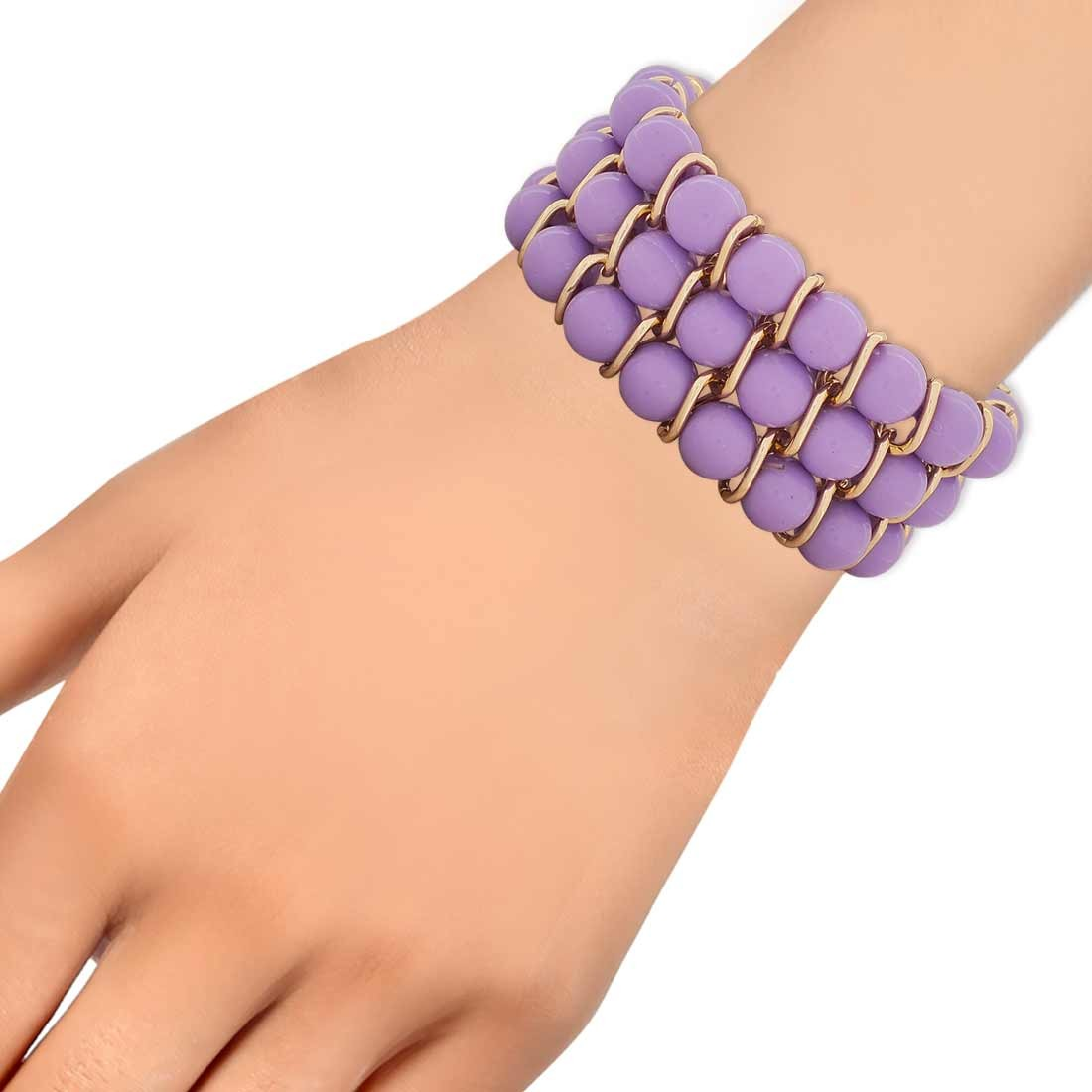 Awesome Purple Bronze Designer Adjustable Reunion Bracelet Alloy Maayra MY6913