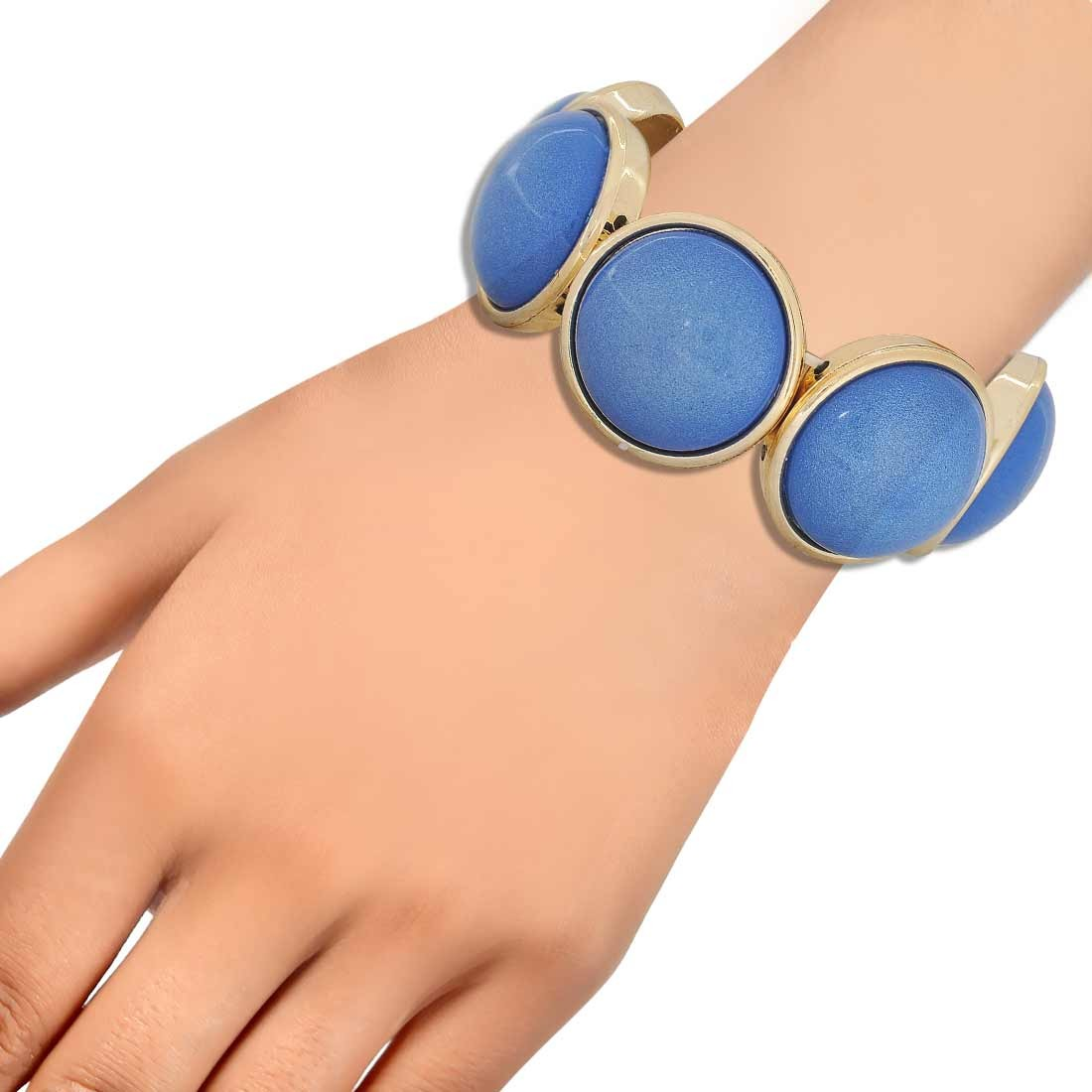 Adorable Blue Contemporary Adjustable Cocktail Bracelet Alloy Maayra MY6917
