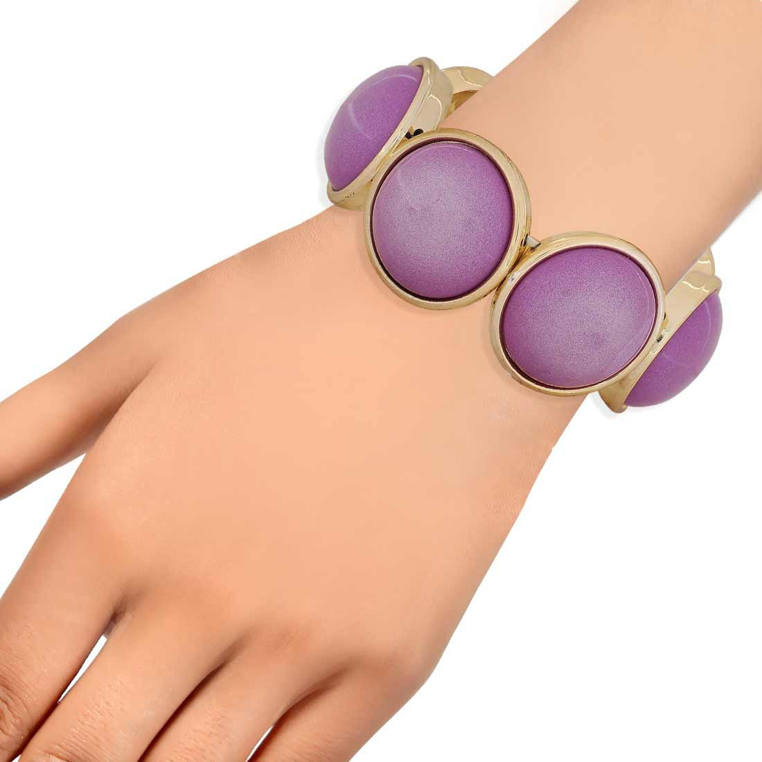 Lovable Purple Designer Adjustable Get-together Bracelet Alloy Maayra MY6918