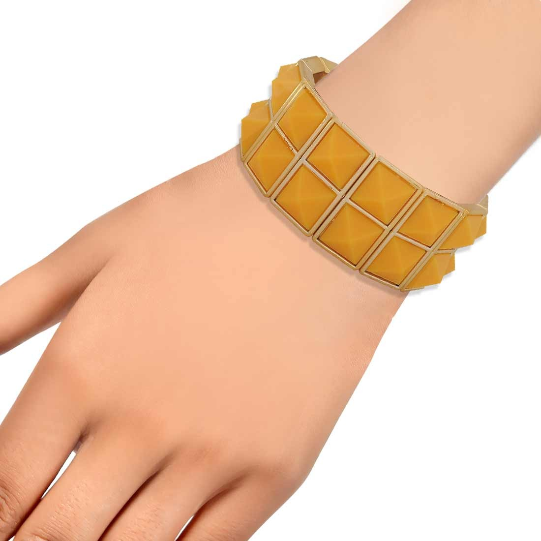 Gorgeous Orange Contemporary Adjustable Casualwear Bracelet Alloy Maayra MY6920